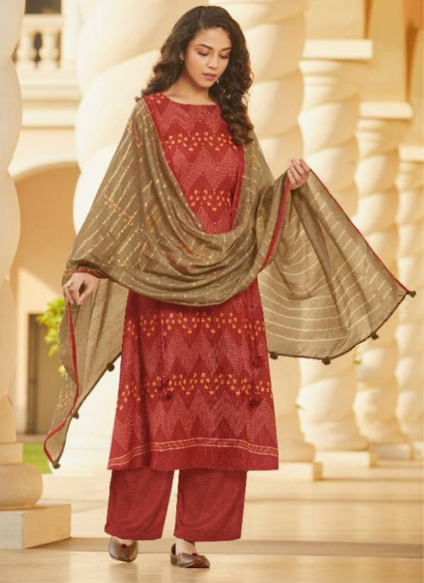 Jay Vijay Saga Story Series 5621-5627 Latest New Pashmina Digital Print With Fancy Hand Work Casual Wear Suits Collection