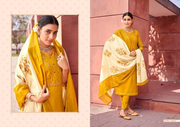 Kalaroop Kivi Purika Vol 2 Series 12355-12358 Linning Silk With Stylish Embroidery & Sequence Work Readymade Salwar Suits Collection