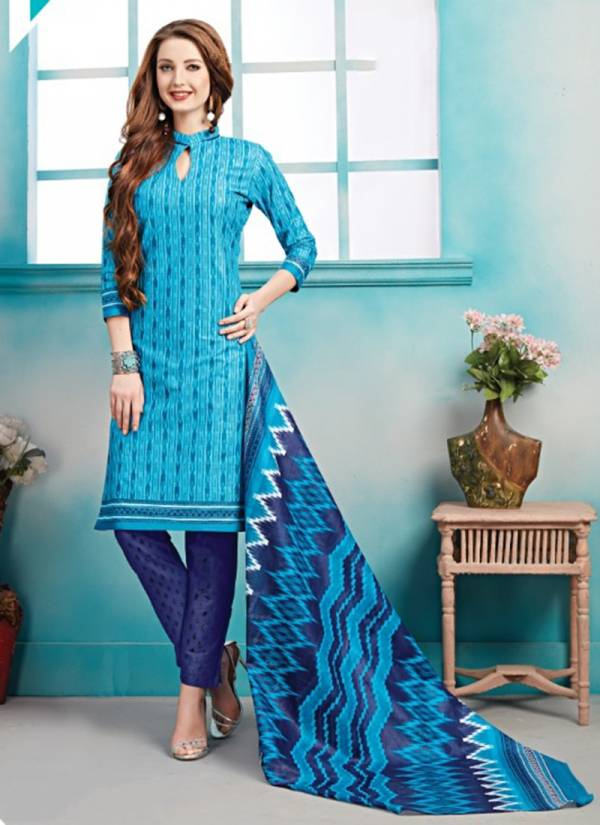 Ganesha Ananya Vol 13 Series 13005-13016 Pure Cotton Printed Casual Wear Readymade Salwar Suits Collection