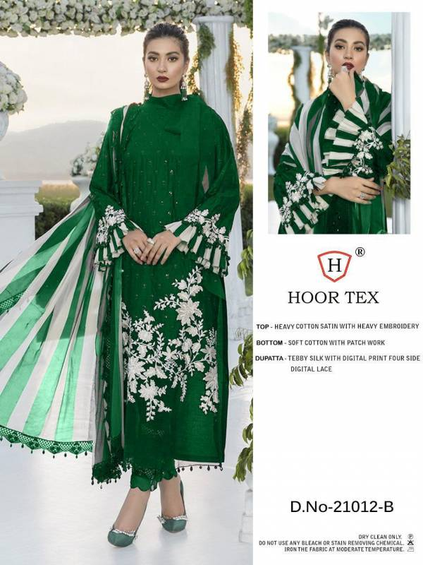 Hoor Tex 21022 Jam Cotton With Fancy Embroidery Work Ramzan Special Pakistani Suits Collection