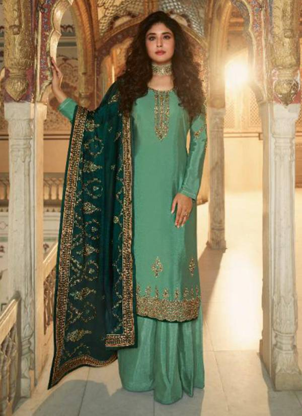 Fiona Ameena Series 22841-22847 Satin Muslin New Designer Exclusive Embroidery Work Party Wear Suits Collection