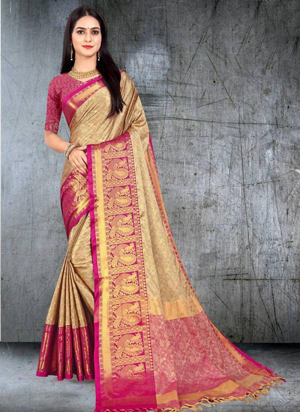 Aura Darshi Blended Silk Attractive Festival wear Designer Saree Collection