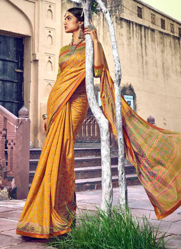 Lifestyle Lavisha Vol 1 Series 69141-69150 Silk Print Lace Party & Festival Wear Sarees Collection