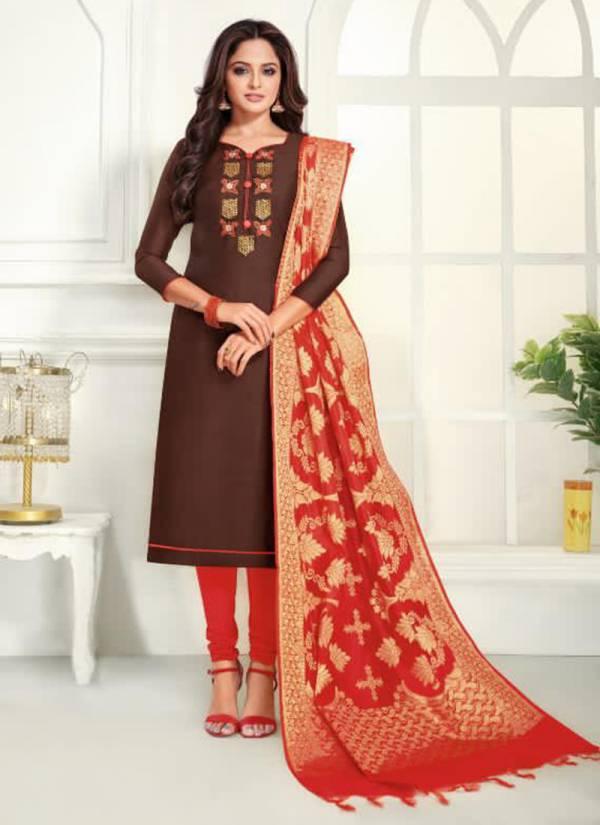 Shagun Lifestyle Vol 6 Series Lifestyle6001-Lifestyle6012 Modal Silk With Hand Work New Designer Casual Wear Churidar Suits With Jacquard Banarasi Dupatta Collection