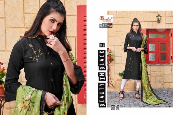 Rung Naina Series 01-08 Heavy Silk With Manual Hand Work Long Kurtis With Fancy Dupatta Collection