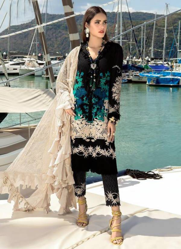 Shree Fab Sana Safinaz Premium Lawn Collection Vol 02 Series 1420-1426 Pure Cotton Printed With Exclusive Embroidery Work New Fancy Pakistani Salwar Suits Collection