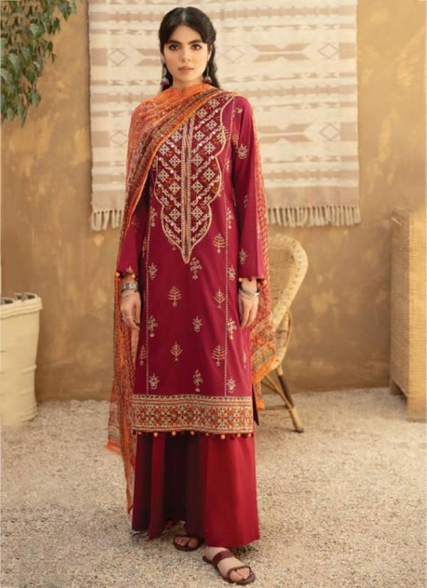 Noor Qalamkar Pure Cotton Exclusive Embroidery Work Festival Wear Designer Salwar Suits Collection