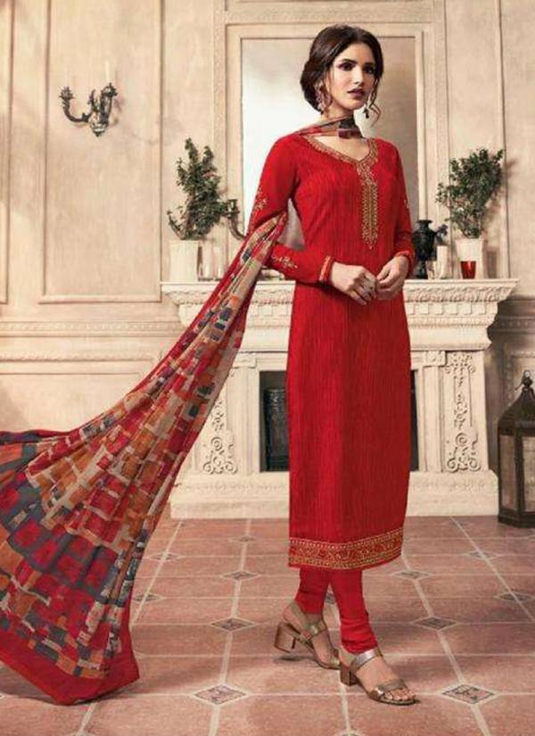 LT Nitya Crepe Series 5901-5909 Crepe Embroidery Work New Designer Festival Wear Churidar Suits Collection