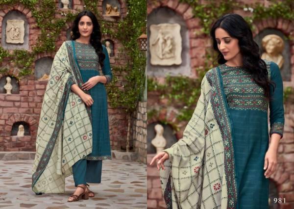 S-Nirukth Gulzar Cotton Satin Printed Fancy Mirror Work Salwar Suit Collections