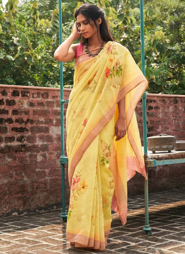 Shangrila Mysore Series 52083-52094 Latest Linen Cotton With Handloom Art Prints Daily wear Sarees Collection