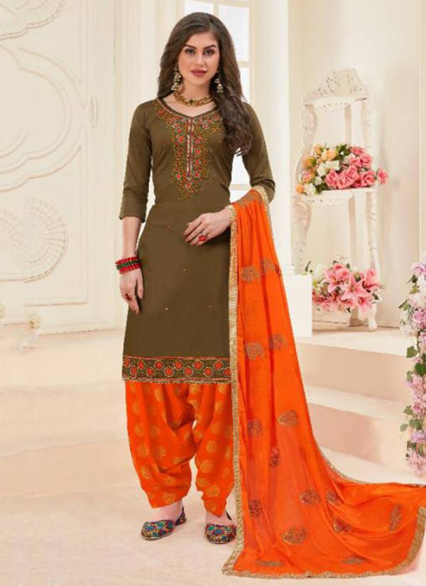 Utsav Suits Mahek Vol -13 Jam Cotton Jacquard With Embroidery Work Readymade Punjabi Salwar Suit Collections 2001-2006