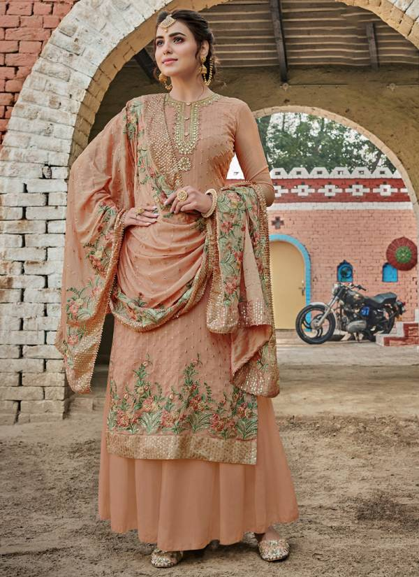 Eba Lifestyle Ashpreet Series 1190-1194 Heavy Chinnon With Heavy Embroidery & Diamond Work New Designer Palazzo Suits Collection