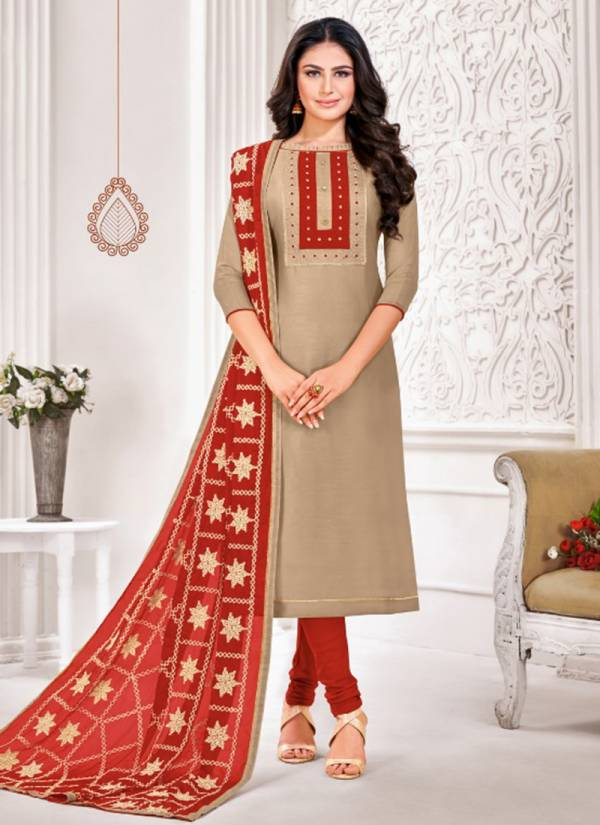 Kapil Tex Meesha Modal Silk With Pintex And Embroidery Work Attractive Salwar Suits Collection