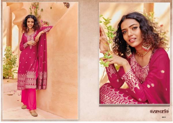 Zaveri Zeenat Viscose Silk Weaving Khatli Hand Work Wedding Wear Designer Palazzo Suits Collection