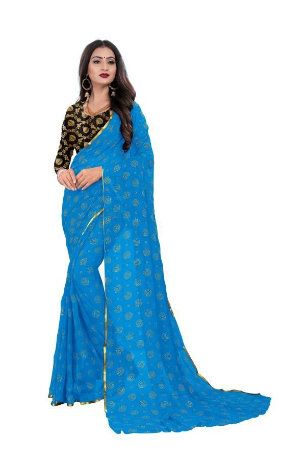 Chirag Chakri Series 1-5 Nazneen Chiffon With Foil Print Fancy Sarees Collection