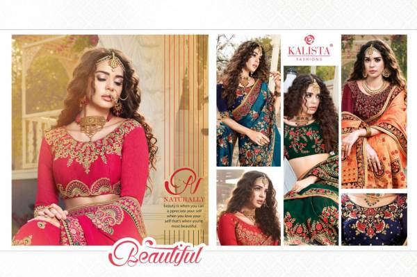 Kalista Fashion New Nagma Vol-5 Vichitra Silk Wedding Wear Embroidery Worked  Designer Sarees Collection