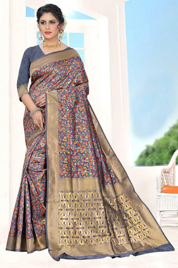 Vamika Fashion Vijal Silk Series 9001-9006 Pure Silk With Multi Design Weaving Zari Work Party Wear Sarees Collection