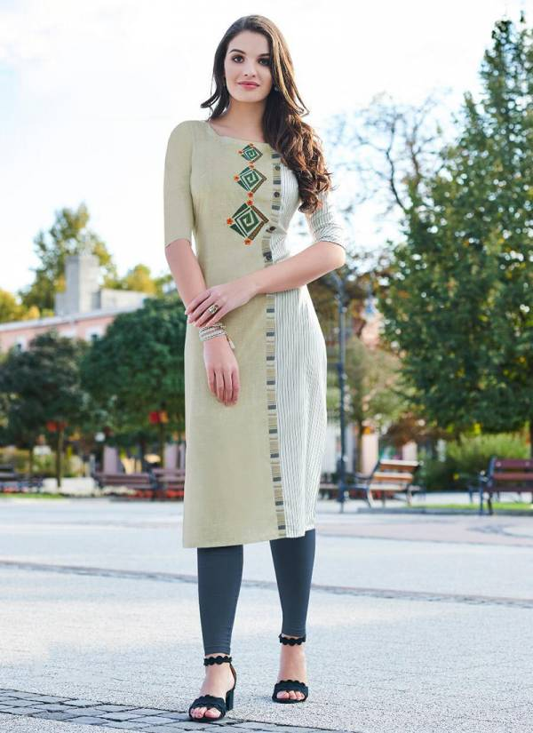 Neha Fashion Navika Series 201-206 Rayon Dyed With Digital Printed New Fancy Daily Wear Straight Cut Kurtis Collection