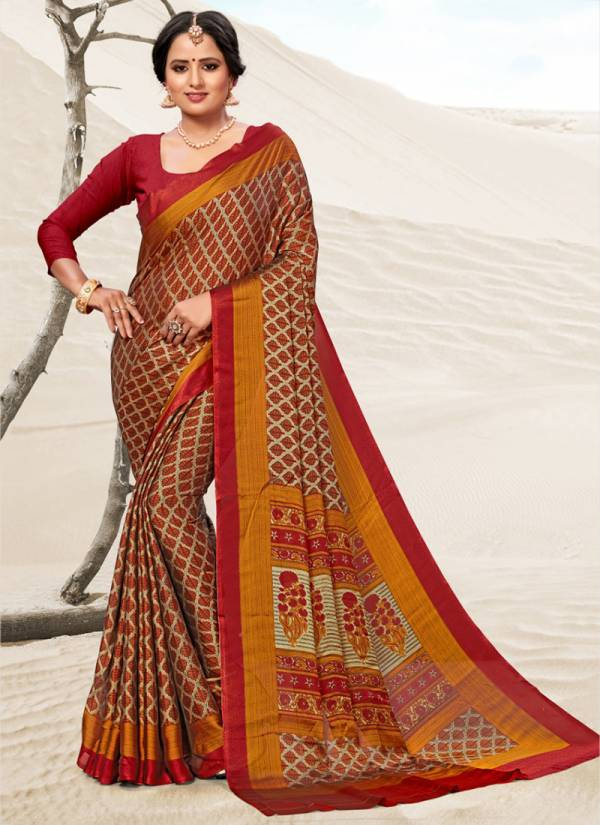 Sangam Infotech Peacock Series SGPEA-1001-SGPEA-1009 Crepe Printed New Fancy Casual Wear Sarees Collection