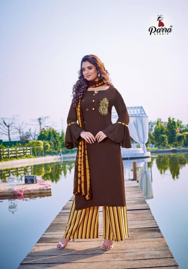 Parra Studio Shipra Vol 2 Series 3001-3007 Pure Rayon With Khatli Work Designer Readymade Palazzo Suits Collection