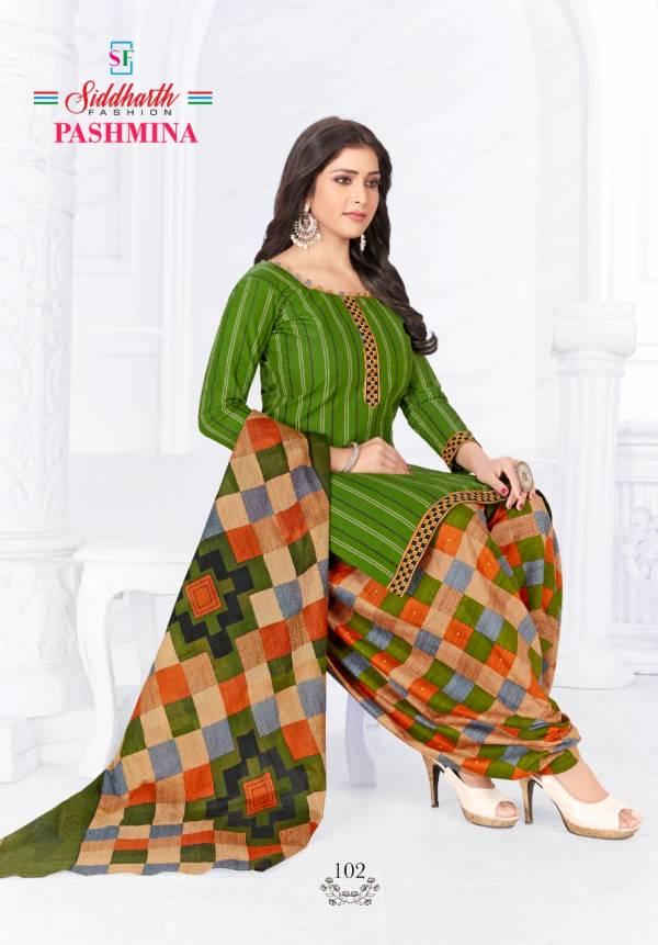 Siddharth Fashion Pashmina Vol 1 Cotton Printed patiyala Suit collection