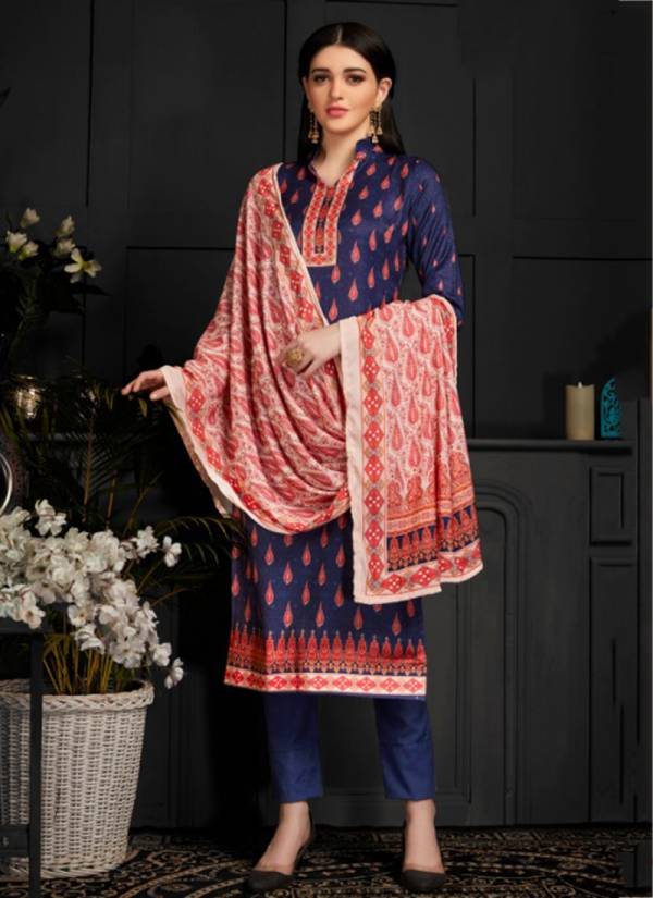 Bipson Shaneel Vol 2 Series 1045-1048 Winter Special Woollen Pashmina Digital Printed Casual Wear Palazzo Suits Collection
