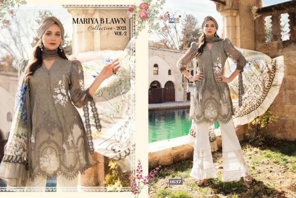Shree Fab Maria Lawn Collection Pure Lawn With Embroidery Work Designer Suit Collection