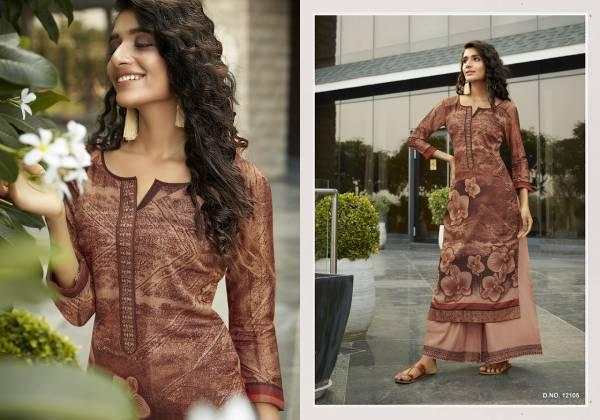 Kivi Fashion Fiesta Vol 4 Series 12101-12106 Silk Printed Casual Wear Latest Designer Kurtis With Palazzo Collection