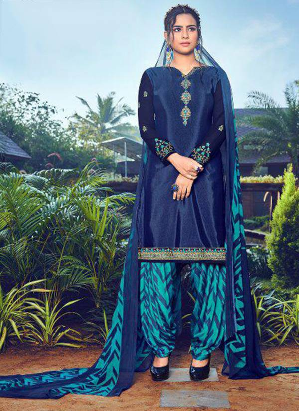 Aarav Trendz Miraya Vol 18 Series 323-330 Heavy French Crepe Printed With Stylish Embroidery Work Suits Collection