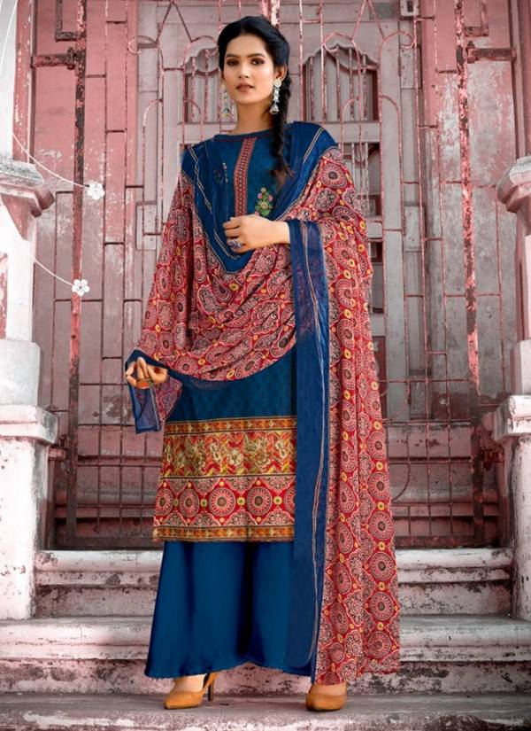 Kesariya Export Heer Cambric Cotton With Digital Printed Palazzo Suits Collection