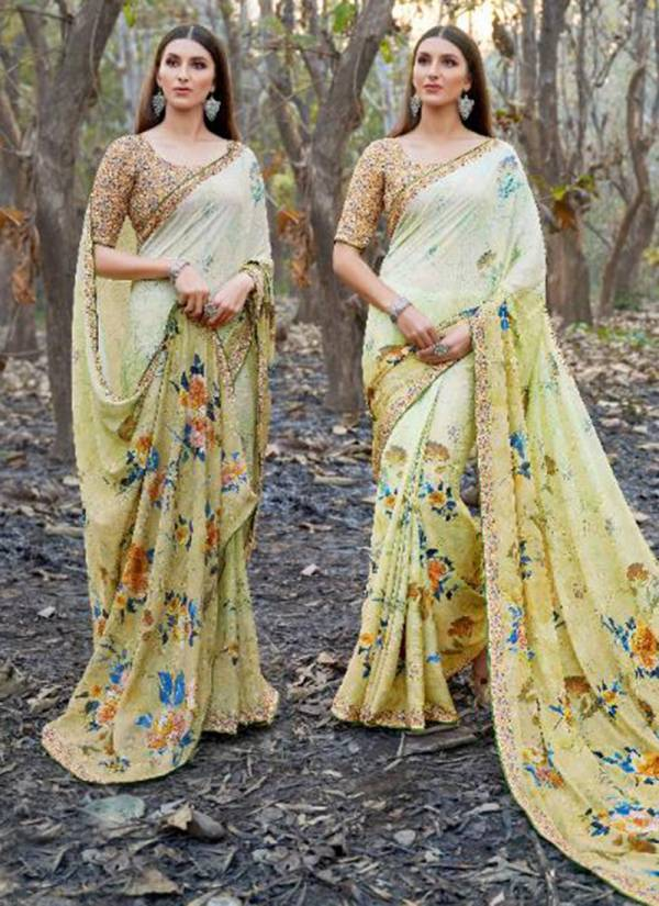 Bela Fashion Florance Series 35190-35196 Georgette Digital Print With Diamond Work Stylish Look Sarees Collection