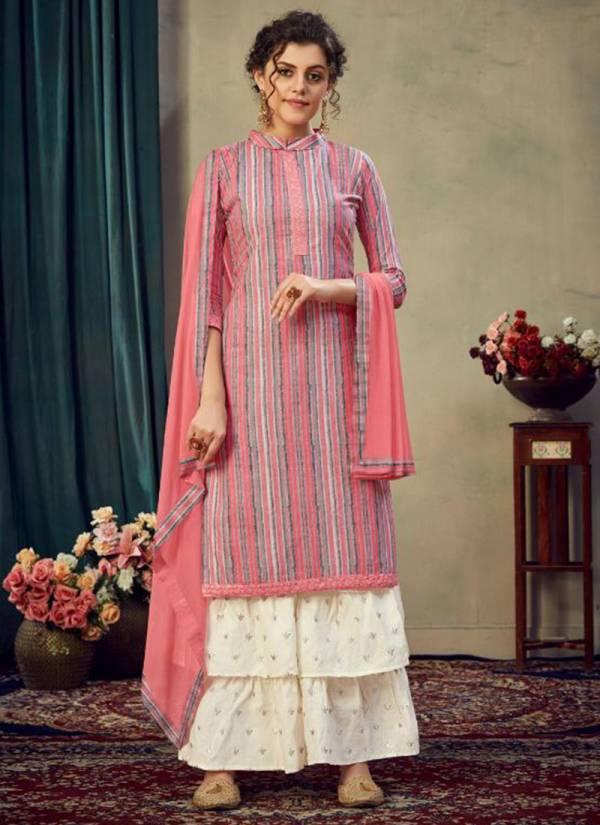 Kaara Ding Dong Jam Satin Eid Special  Sharara Suits Collection