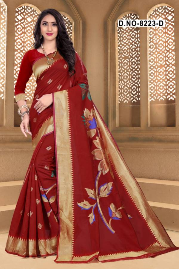 Kodas Harmony Series 8223A-8223D Exclusive Design Silk Base With Fancy Stone Work Festival Wear Sarees Collection