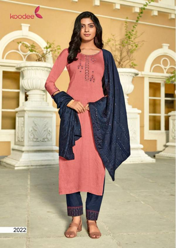 Koodee Sahelli Vol 5 Series 2017-2022 Nylon Viscose With Embroidery & Khatli Work Designer Readymade Suits Collection
