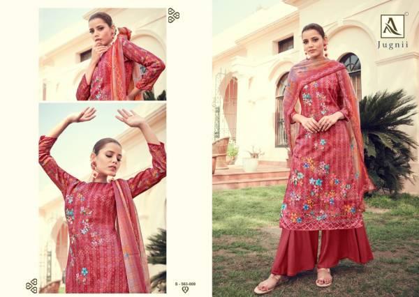 Alok Suit Jugnii Pure Zam Cotton Digital Print With Swarovski Diamond Work Daily Wear Designer Suits Collection