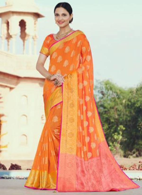 Nakkashi Naari Jacquard Heavy Swarovski Work  Wedding Wear Designer Sarees Collection