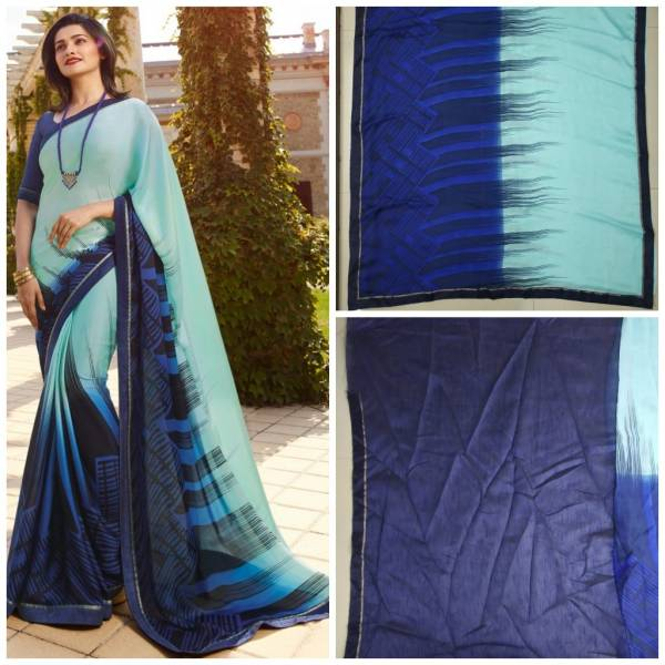 Nakshatra Fashion Studio Vol 6 Georgette Digital Printed Work Regular Wear Designer Sarees Collection