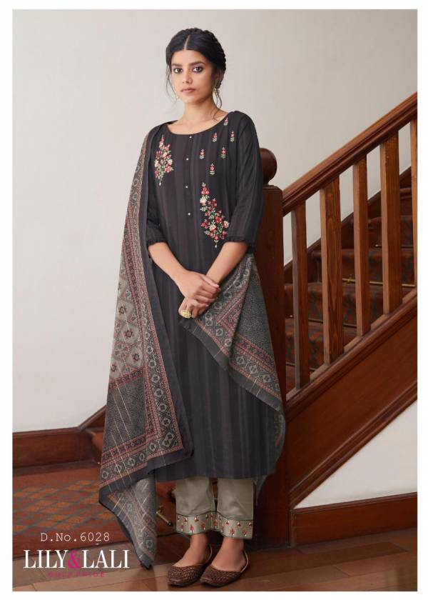 Lily & Lali Mahima Viscose With Embroidery Readymade Wear Salwar Suit Collections