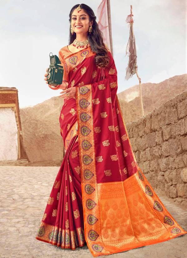 Lifestyle Shivastu Vol 2 Series 68721-68726 Fancy Lichi Silk Rich Pallu Meenakari Wedding Wera Sarees Collection