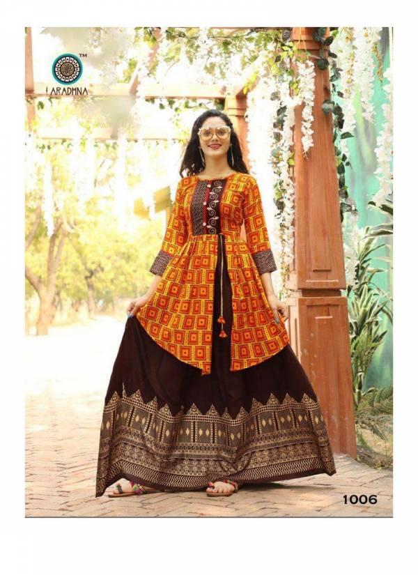 Aradhna Fashion Mashup Vol 1 Heavy Rayon With Embroidery And Manual Work Designer Kurtis Collection