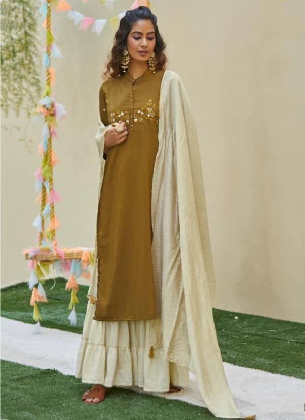 Kalki Fashion Antra Vol 2 Series 58001KA-58006Ka Pure Weaving Lilling Chinon Silk Khatli Work & Embroidery Work Readymade Salwar Suits Collection