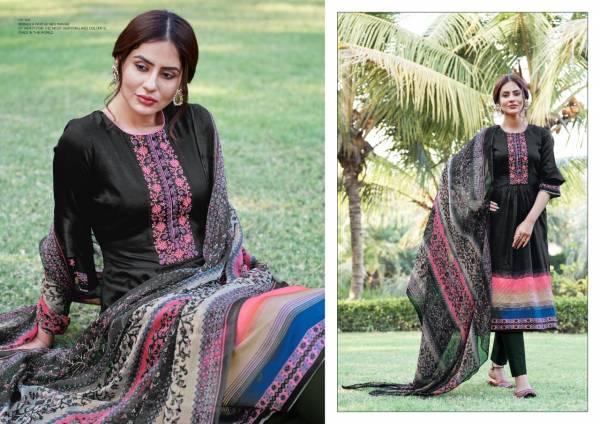 Siddhi Sagar Heenaz Jam Satin Printed With Kashmiri Work Salwar Suits Collection