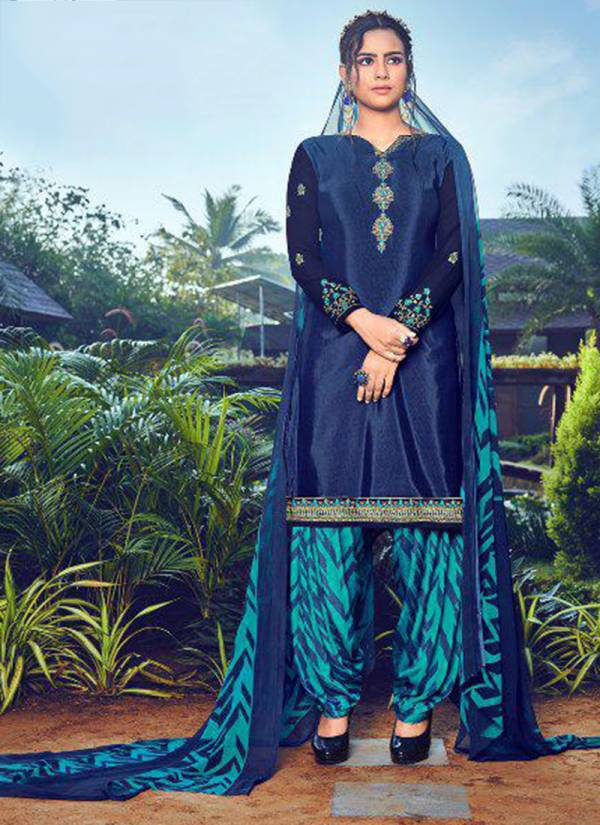 Aarav Trendz Miraya Vol 18 Series 323-330 Heavy French Crepe Printed With Embroidery Work New Designer Patiyala Suits Collection