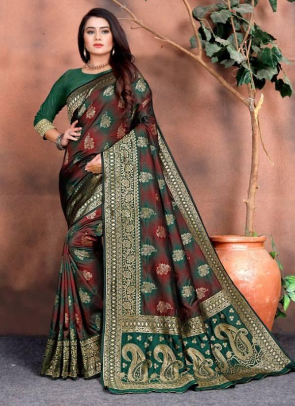Sanjana Designer Meera Series 5051-5062Soft Silk Weaving With Rich Pallu New Designer Party Wear Sarees Collection