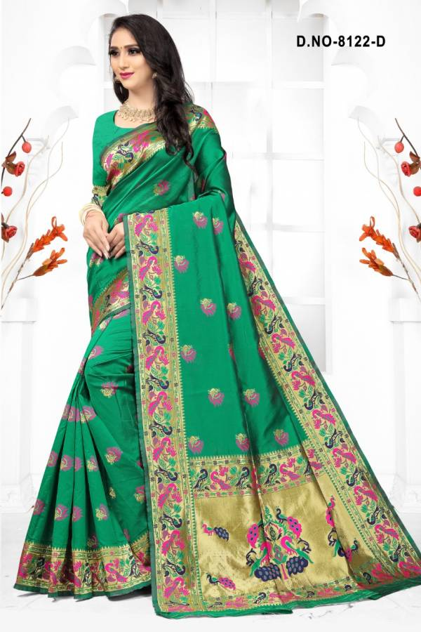 Kodas Sanyog Series 8122A-8122D Handloom Cotton Silk Traditional Wear Sarees Collection