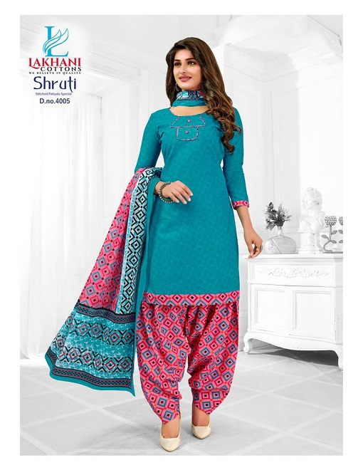 Lakhani Shruti Vol 4 Series 4001-4012 Pure Heavy Cotton Ethnic Ware Digital Printed Readymade Salwar Suits Collection