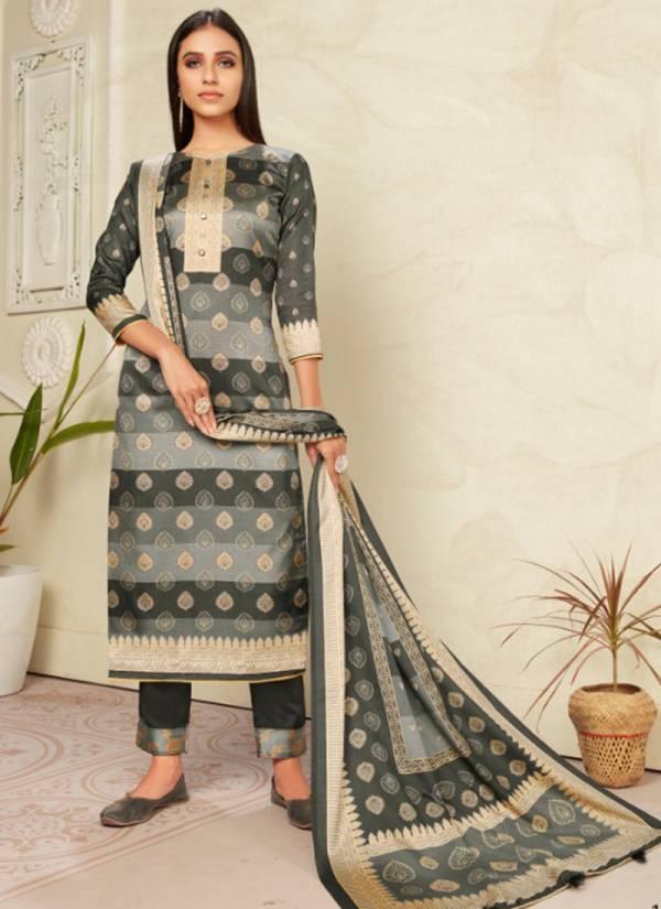 Bipson Colours 2 Series 1057-1060 Tussar Silk Jacquar Style Digital Print Fancy Festival Wear Suits Collection