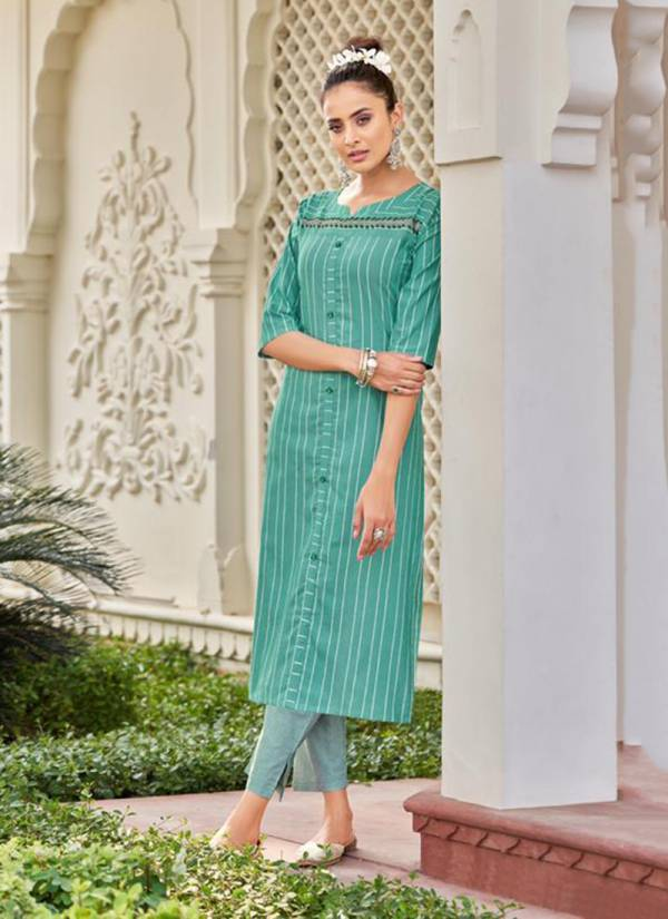 Stylemax Ananya Vol 2 Series 121-127 Kotha Silk Chex With Hand Embroidery Work Latest Designer Kurtis With Pants Collection