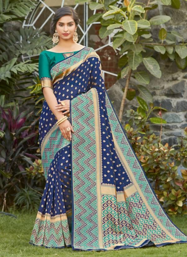 Sangam Prints Rainbow Silk Fancy Embroidery Work With Rich Pallu Festival Wear Designer Sarees