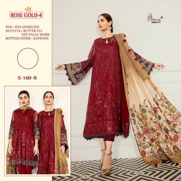 Shree Fab Rose Gold 4 Series 160A-160F Faux Georgette Designer Pakistani Salwar Suits Collection